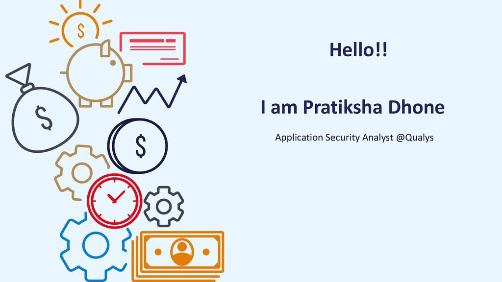 Hello!! Application Security Analyst @Qualys I ...