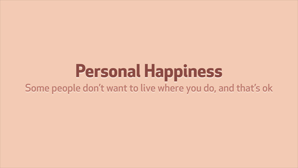 Personal Happiness Some people don't want to li...