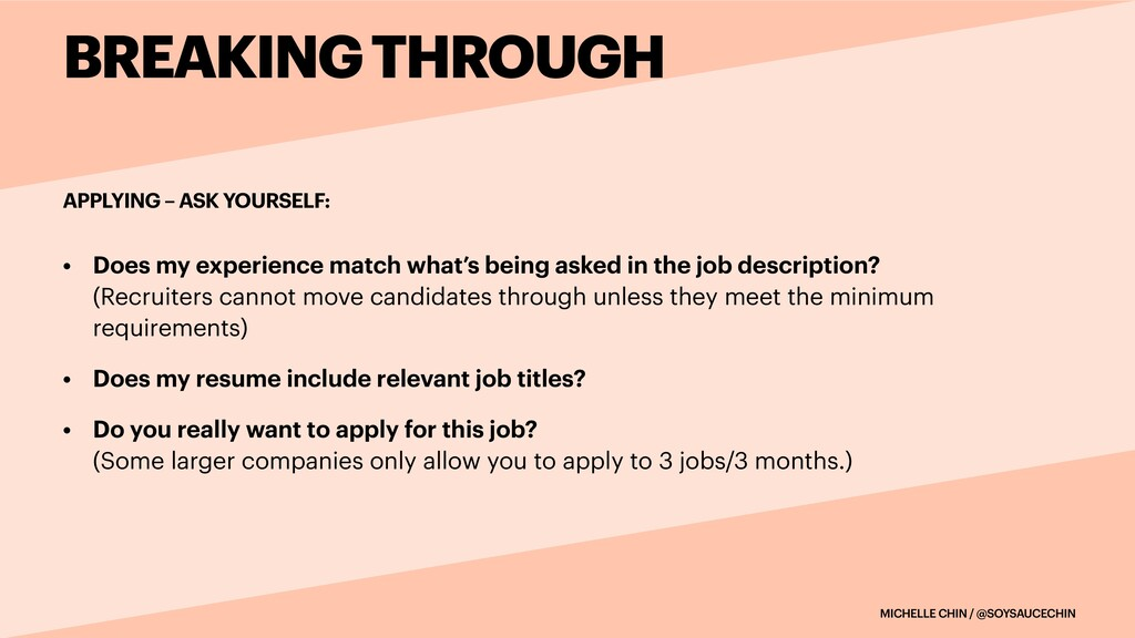 MICHELLE CHIN / @SOYSAUCECHIN APPLYING – ASK YO...