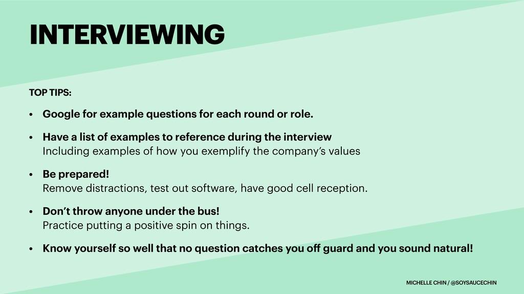 MICHELLE CHIN / @SOYSAUCECHIN TOP TIPS: INTERVI...
