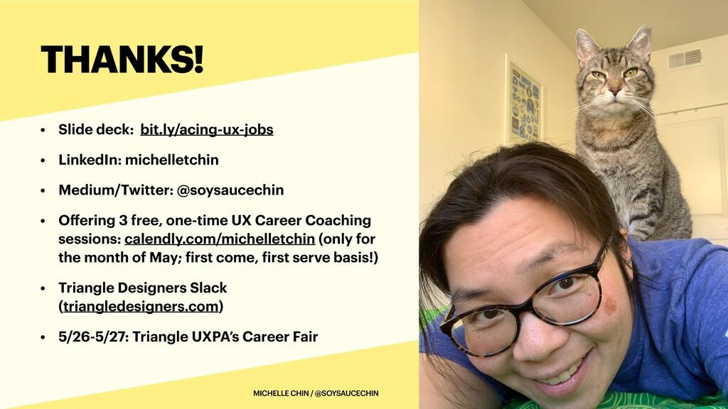 • Slide deck: bit.ly/acing-ux-jobs   • LinkedIn...