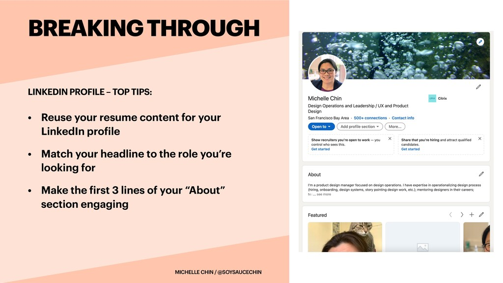 • Reuse your resume content for your LinkedIn p...
