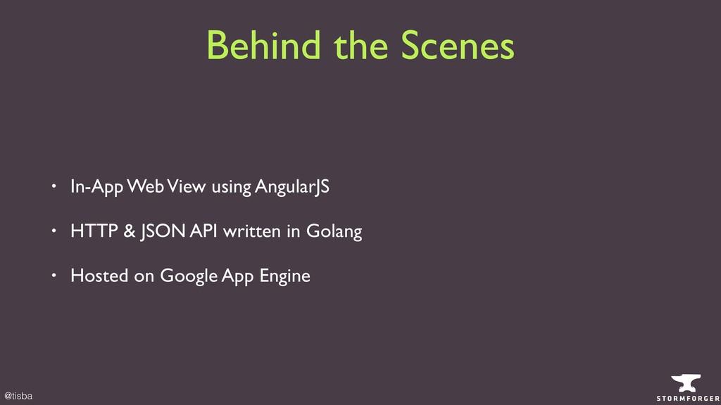 @tisba • In-App Web View using AngularJS • HTTP...