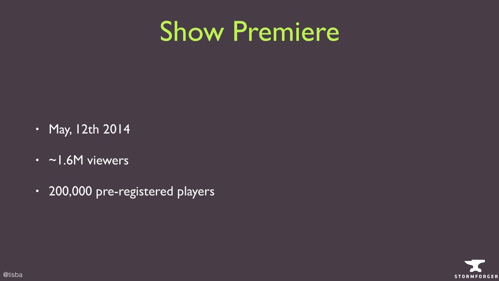 @tisba • May, 12th 2014 • ~1.6M viewers • 200,0...