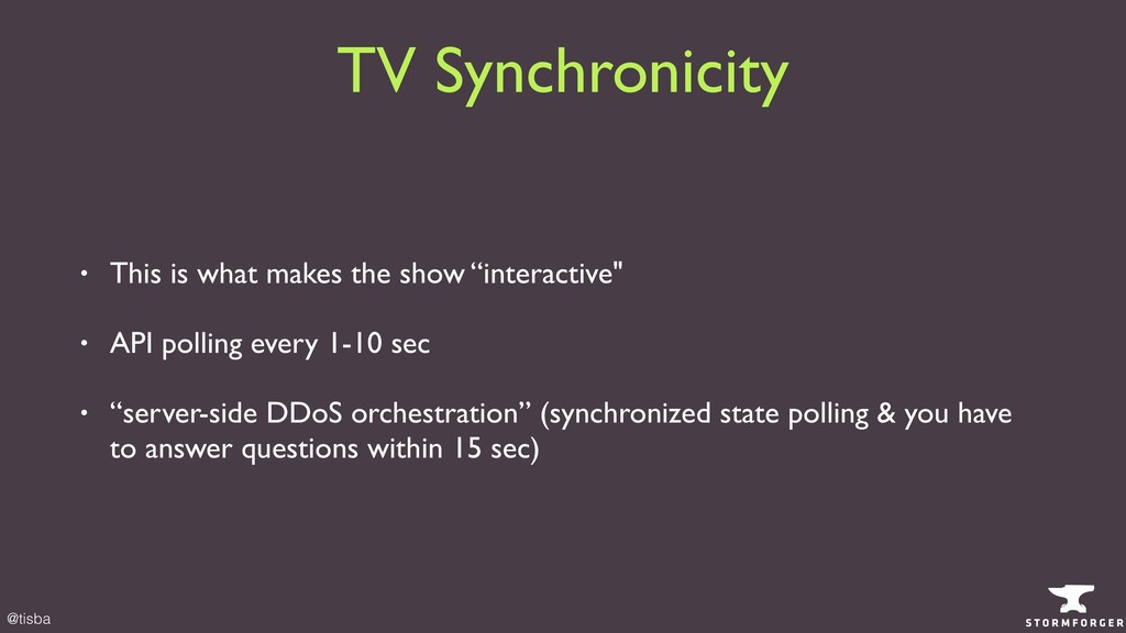 @tisba TV Synchronicity • This is what makes th...