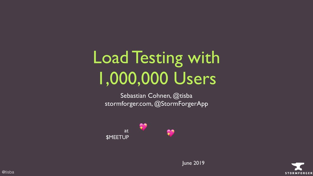 @tisba Load Testing with 1,000,000 Users Sebast...