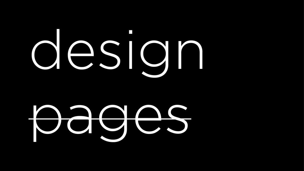 design pages