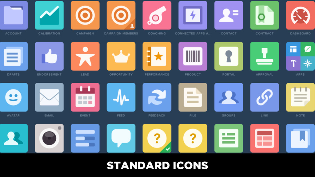 STANDARD ICONS