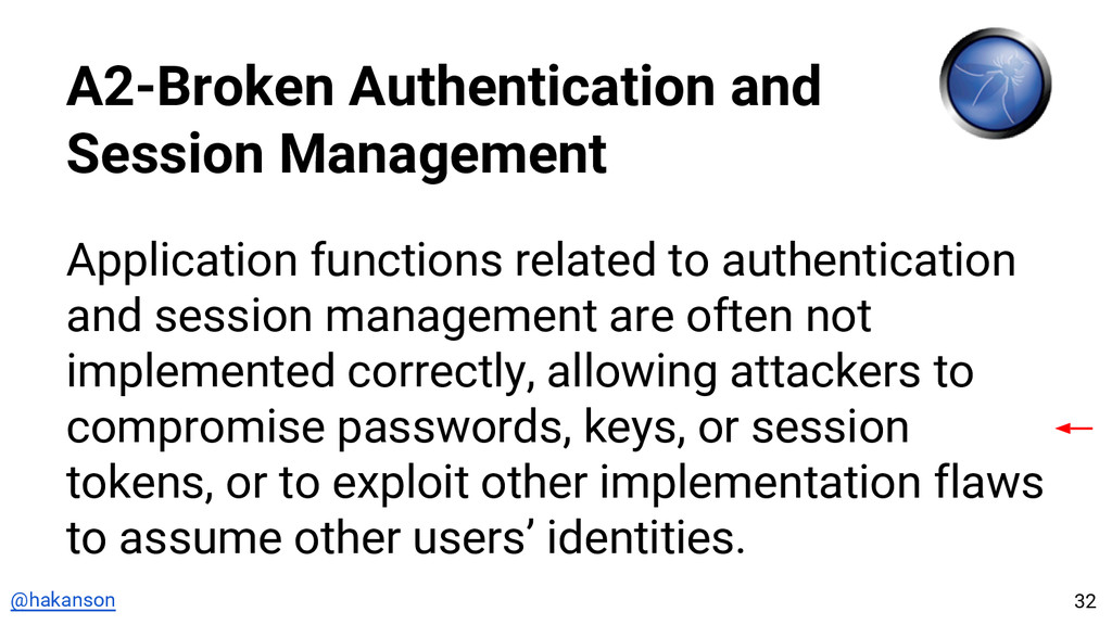 @hakanson A2-Broken Authentication and Session ...