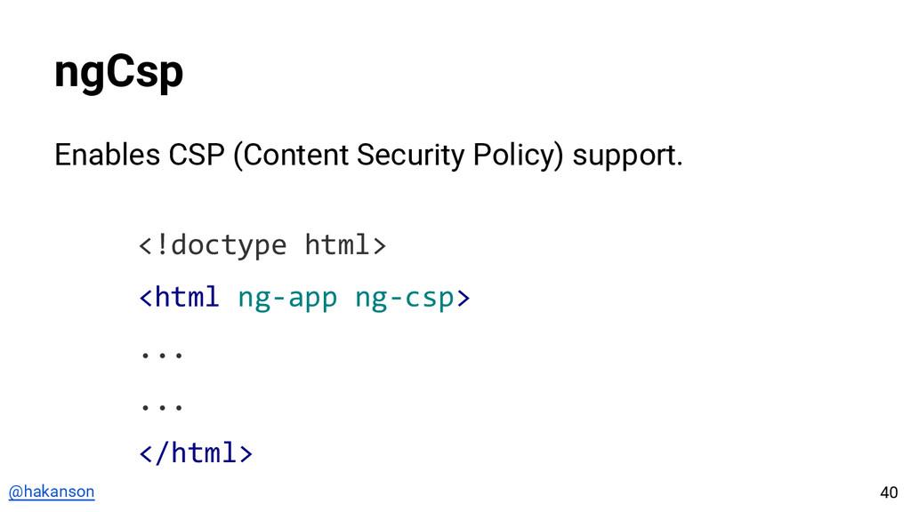 @hakanson ngCsp Enables CSP (Content Security P...