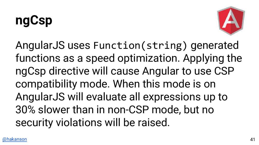 @hakanson ngCsp AngularJS uses Function(string)...