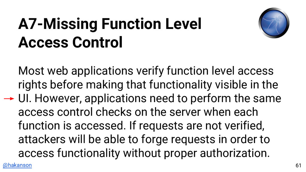 @hakanson A7-Missing Function Level Access Cont...