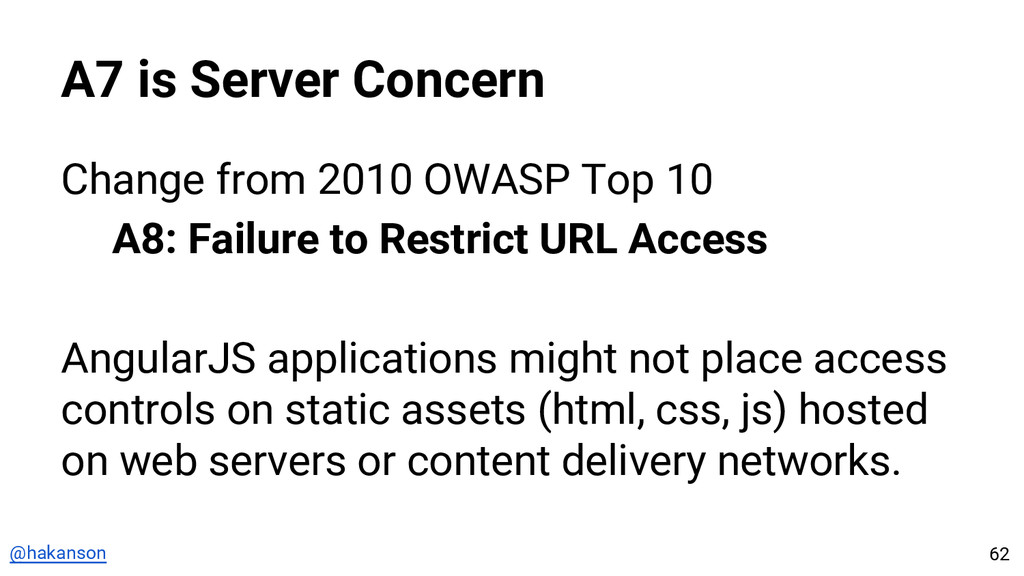 @hakanson A7 is Server Concern Change from 2010...