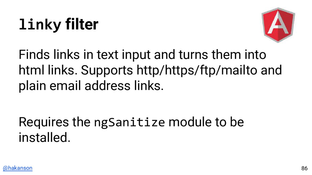 @hakanson linky filter Finds links in text inpu...