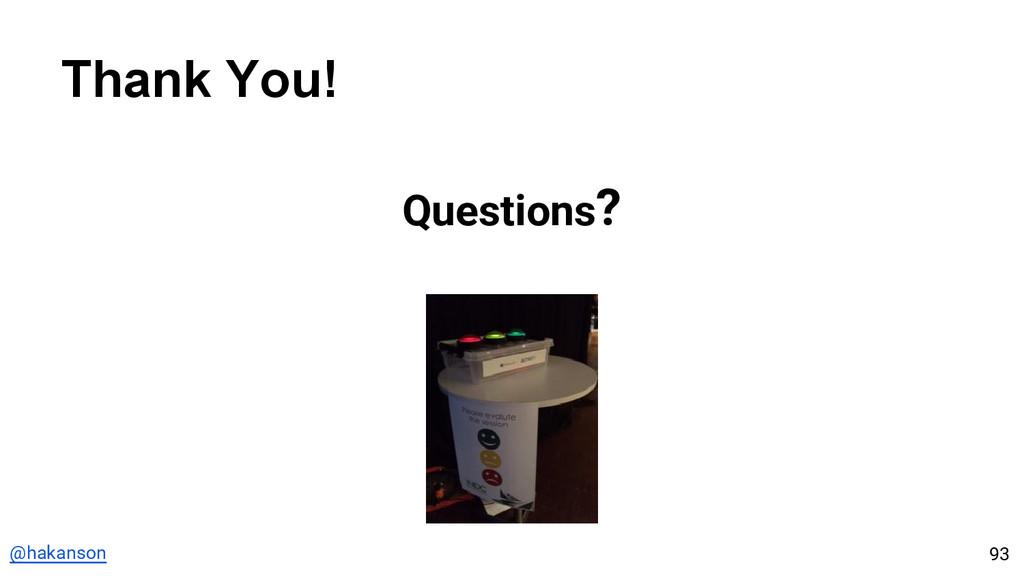 @hakanson Thank You! 93 Questions?