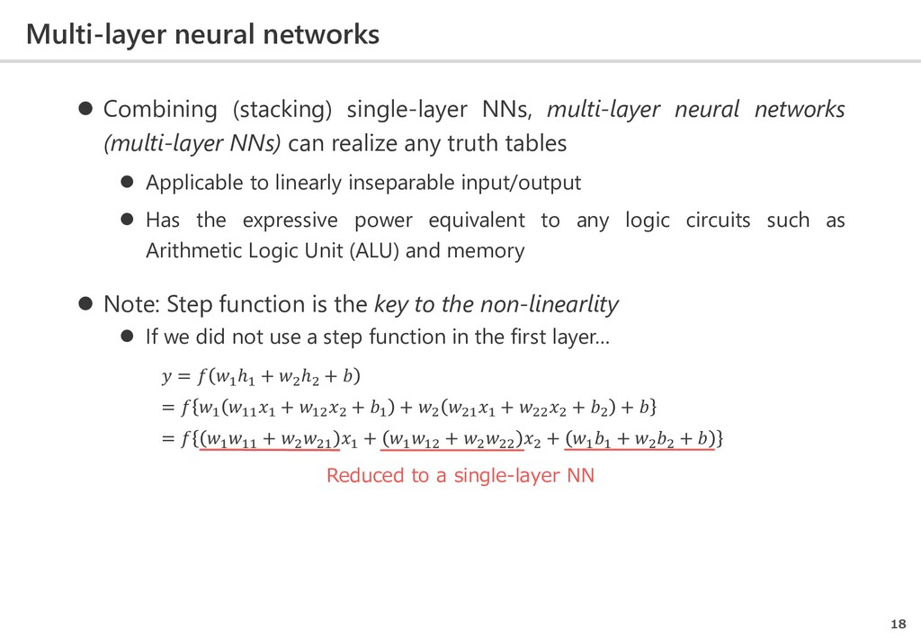Multi-layer neural networks 18  Combining (sta...