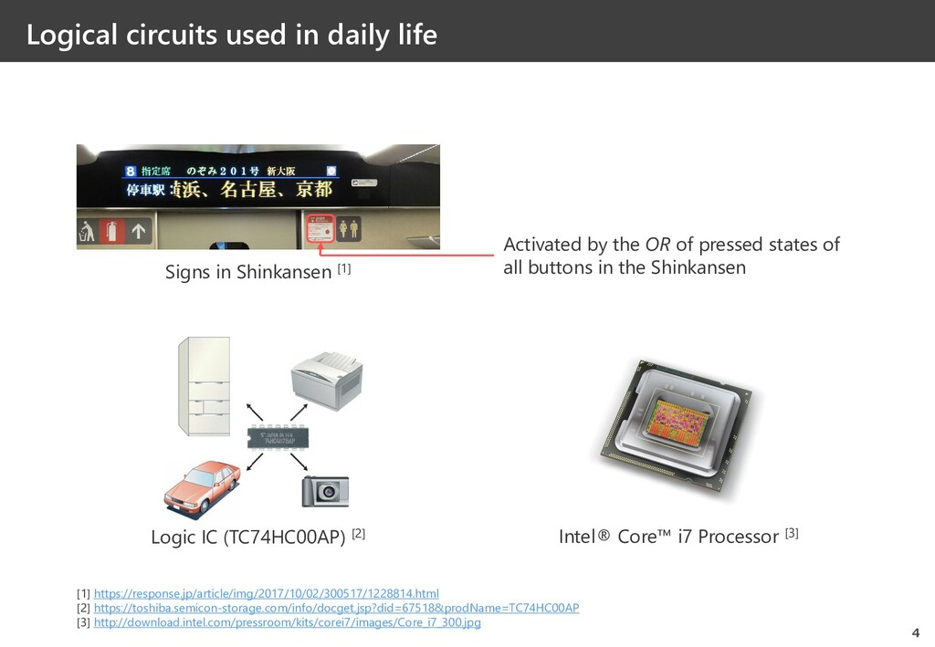 Logical circuits used in daily life 4 [1] https...