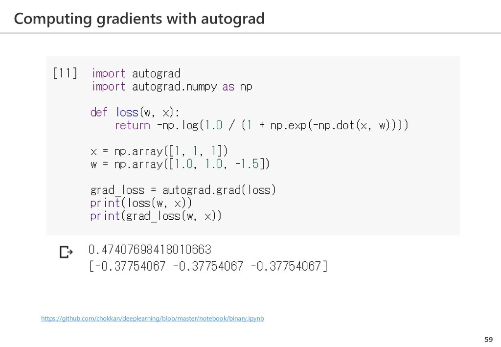 Computing gradients with autograd 59 https://gi...