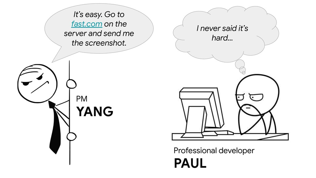 PM YANG It's easy. Go to fast.com on the server...