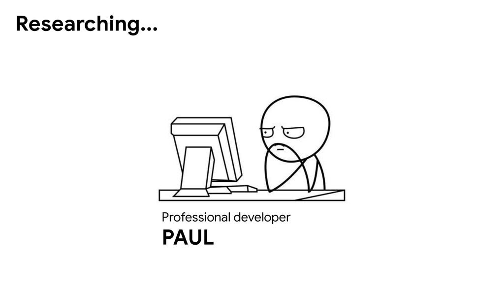 Professional developer PAUL Researching...