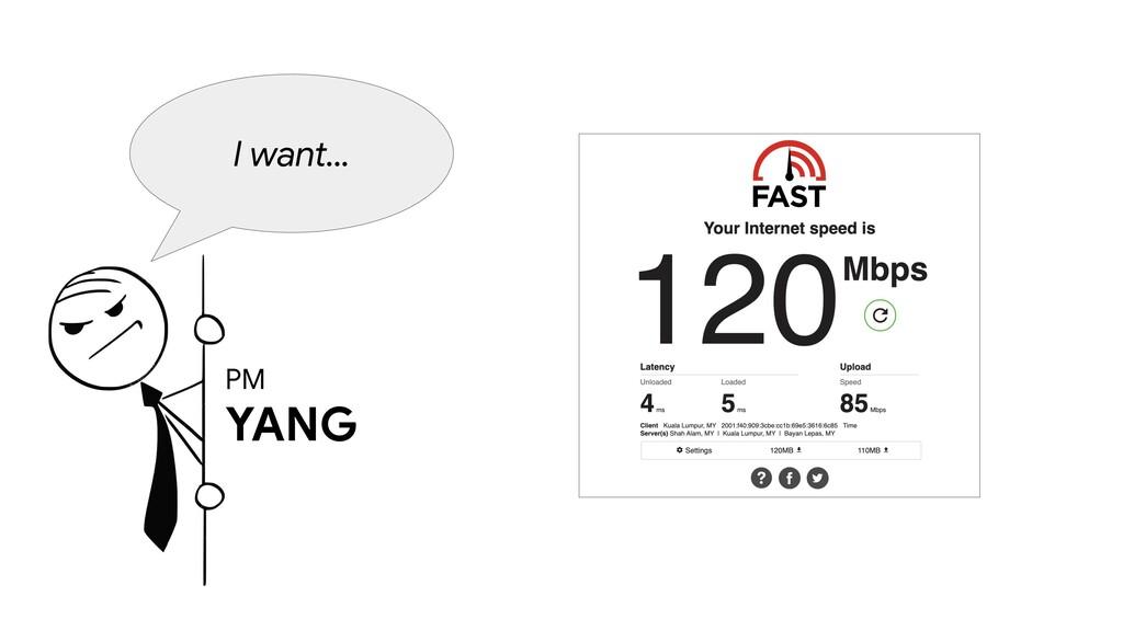 PM YANG I want...