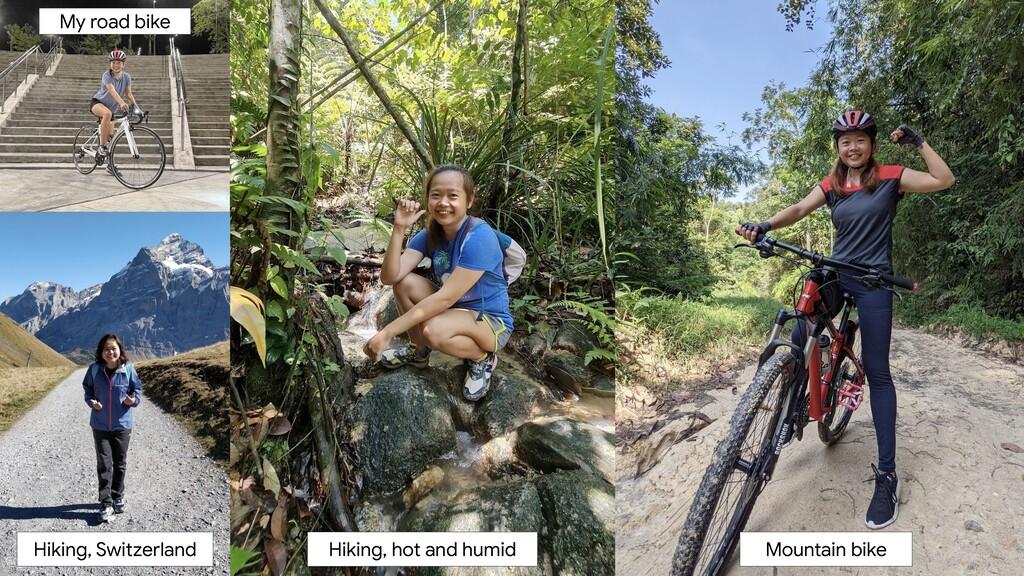 Mountain bike Hiking, hot and humid Hiking, Swi...