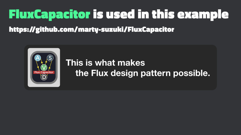FluxCapacitor is used in this example https:/ /...