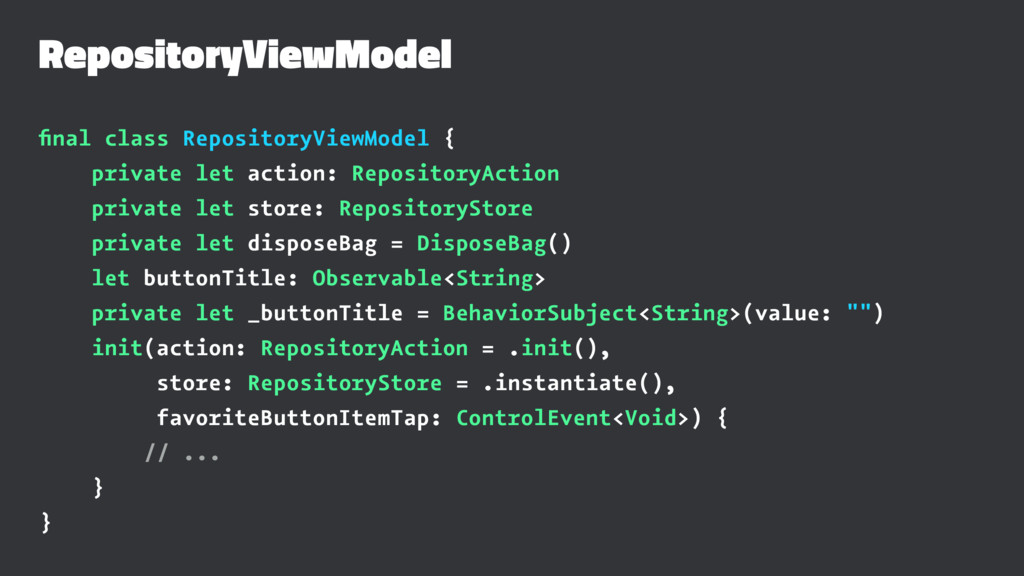 RepositoryViewModel final class RepositoryViewMo...