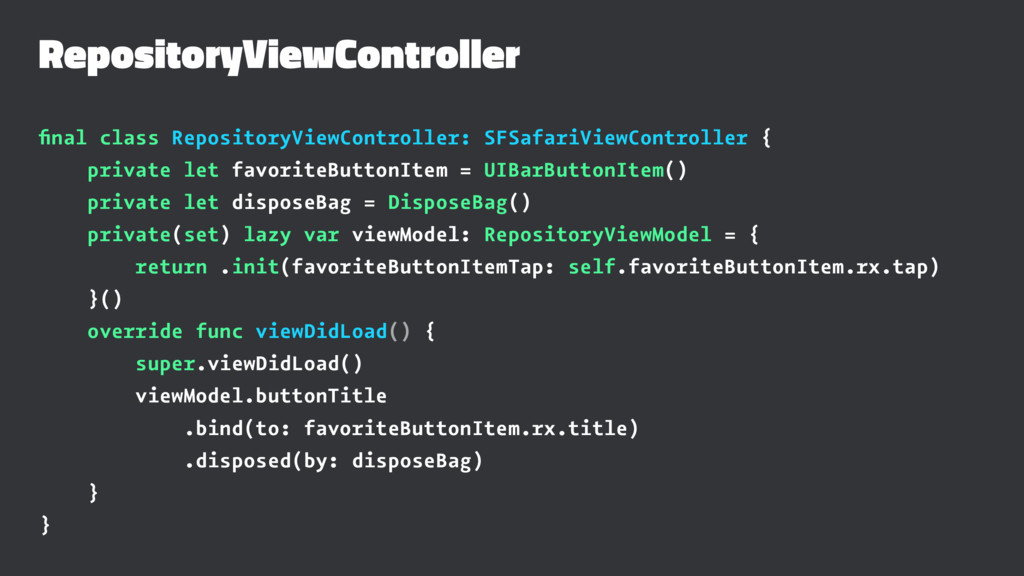 RepositoryViewController final class RepositoryV...