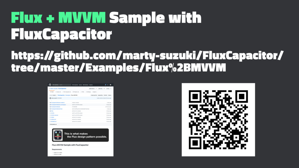 Flux + MVVM Sample with FluxCapacitor https:/ /...