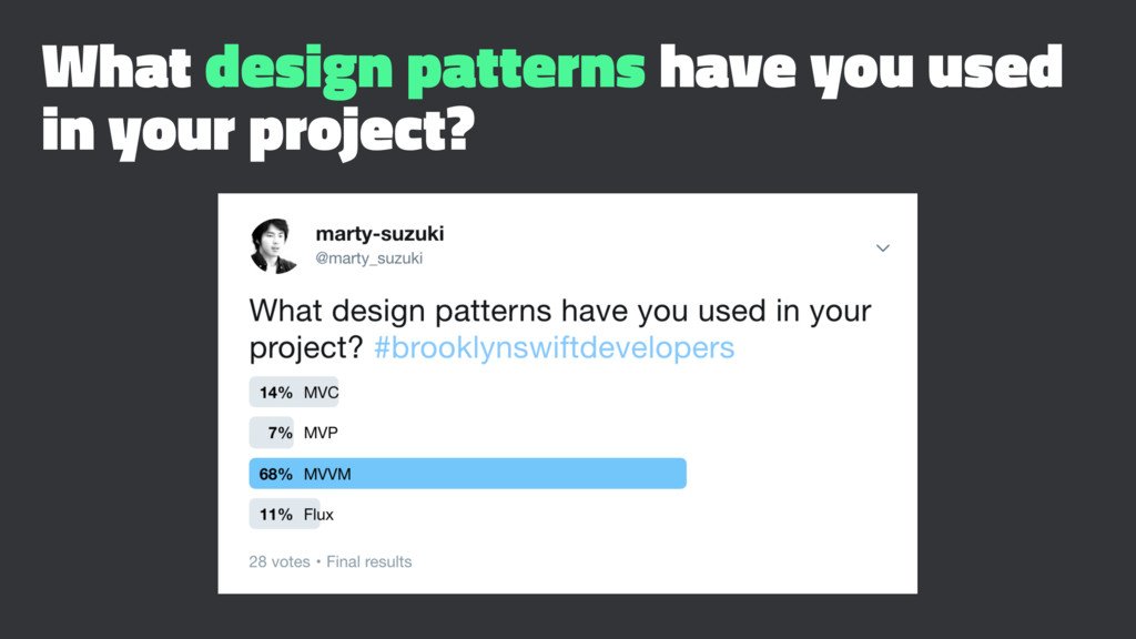 What design patterns have you used in your proj...