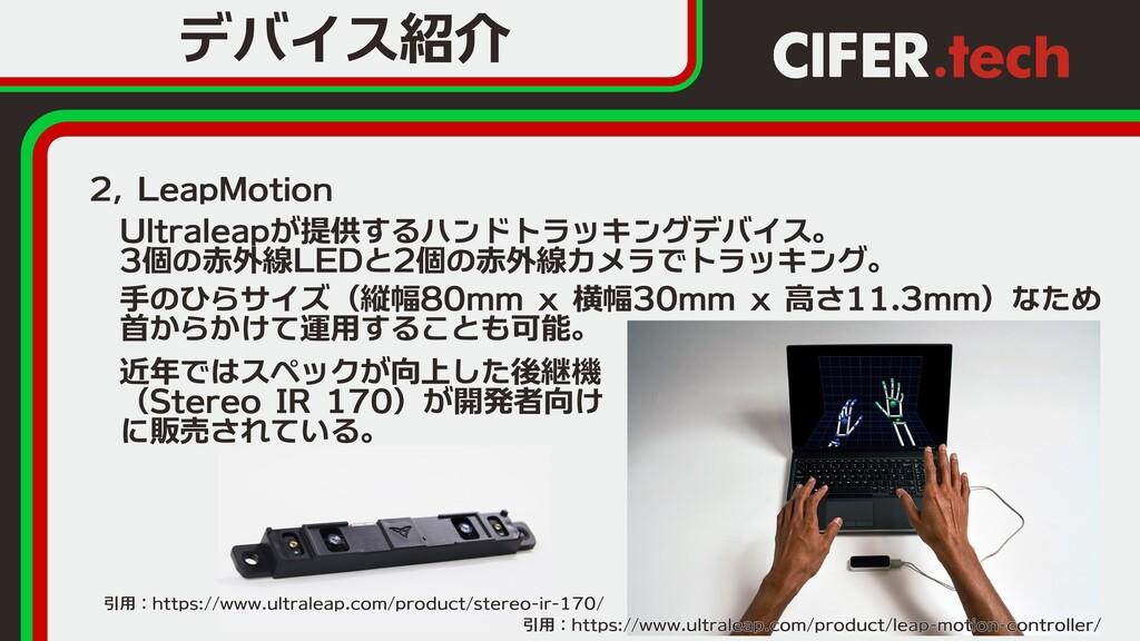 2, LeapMotion デバイス紹介  Ultraleapが提供するハンドトラッキングデバ...