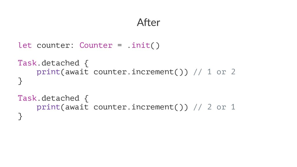 "A""er let counter: Counter = .init() Task.detach..."