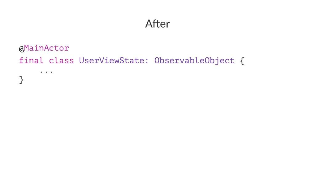 """A""""er @MainActorɹ final class UserViewState: Obs..."""