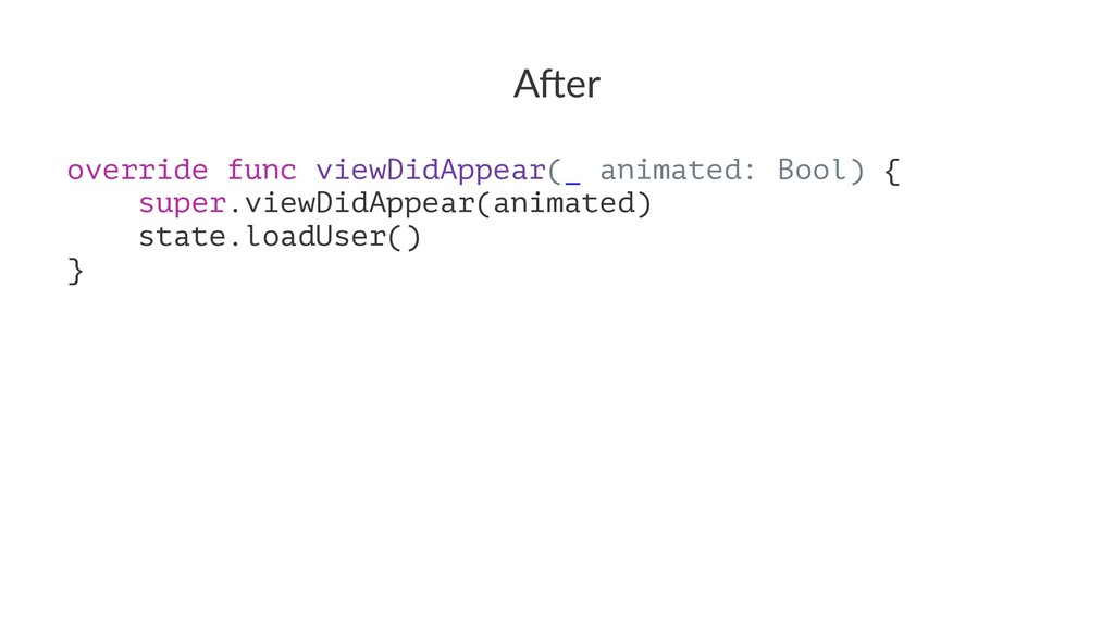 """A""""er override func viewDidAppear(_ animated: Bo..."""