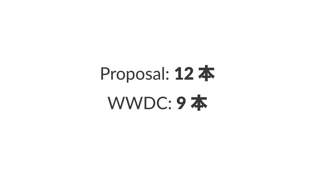 Proposal: 12 ຊ WWDC: 9 ຊ