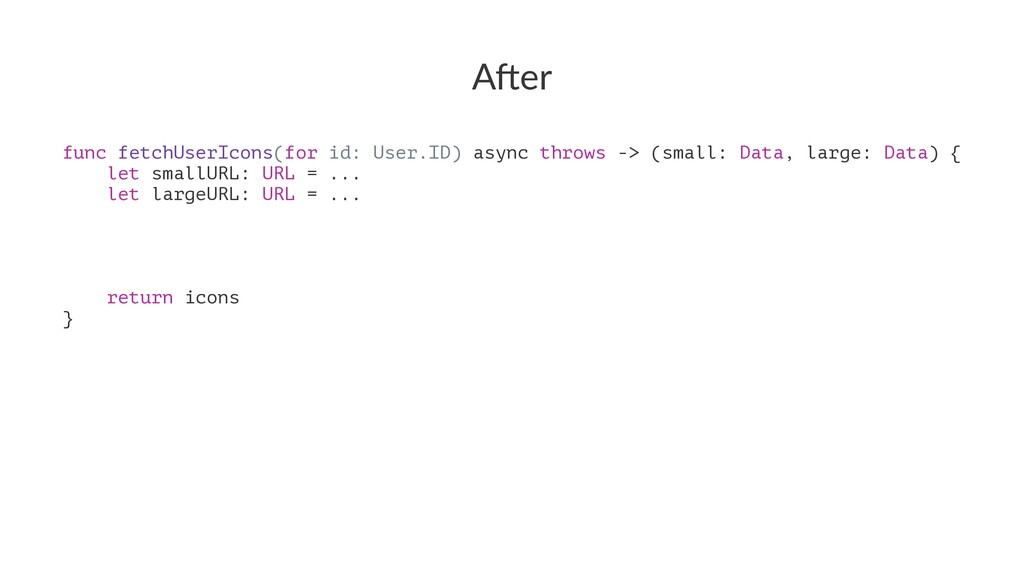 """A""""er func fetchUserIcons(for id: User.ID) async..."""