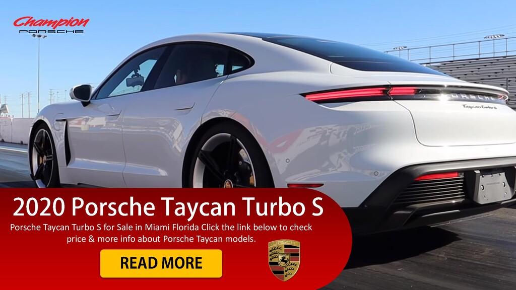 Porsche Taycan Turbo S for Sale in Miami Florid...