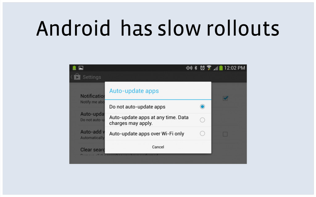 Android has slow rollouts