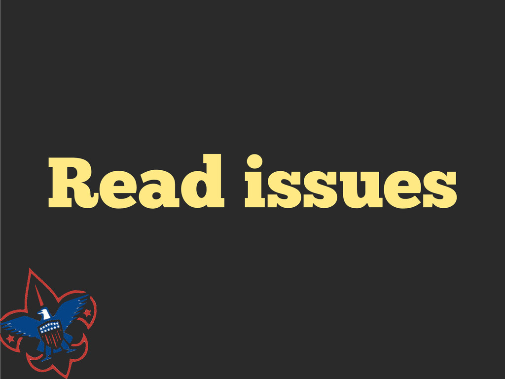 Read issues