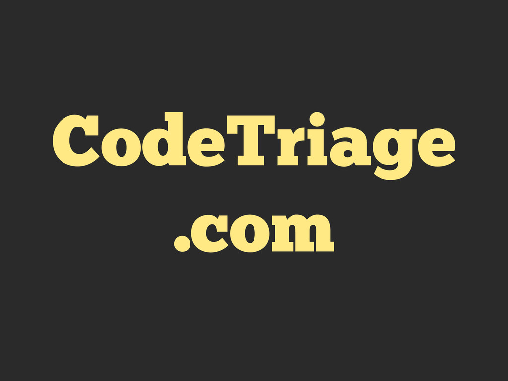 CodeTriage .com