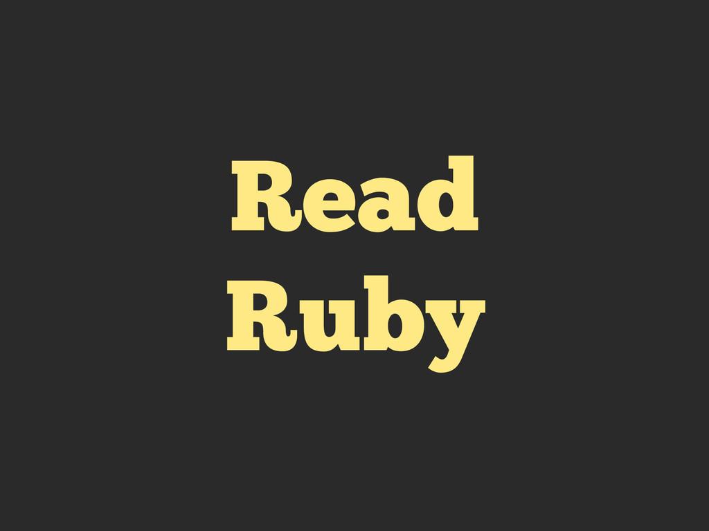 Read Ruby