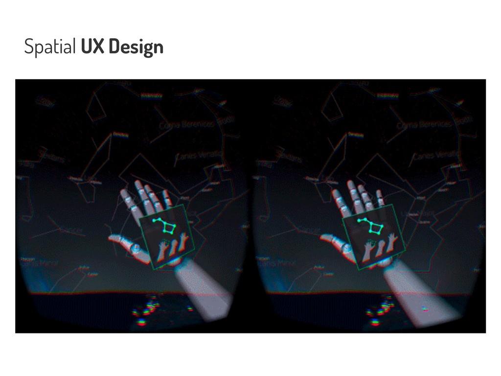 Spatial UX Design