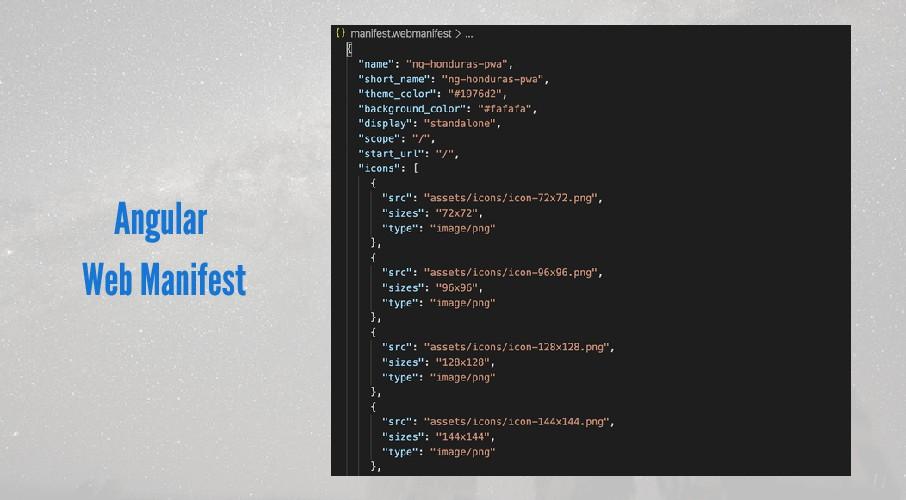 Angular Web Manifest