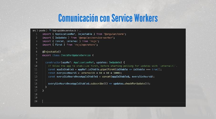 Comunicación con Service Workers