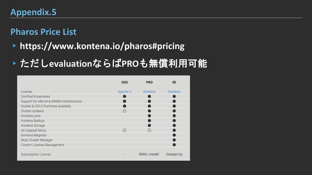 Pharos Price List ▸https://www.kontena.io/pharo...