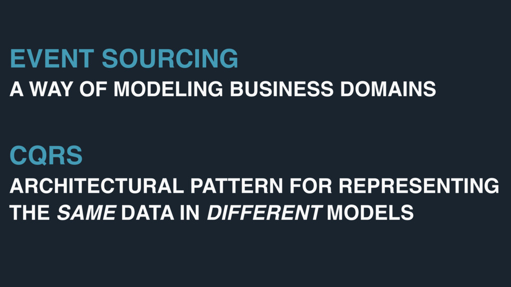 EVENT SOURCING A WAY OF MODELING BUSINESS DOMAI...