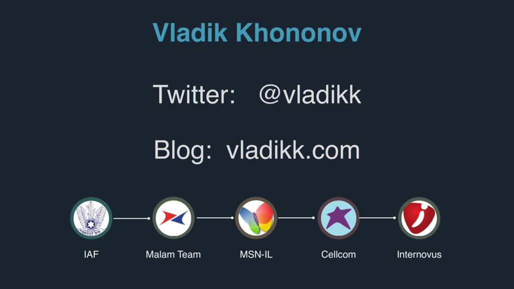 Vladik Khononov IAF Malam Team MSN-IL Cellcom I...