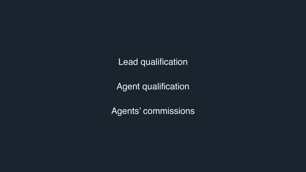 Lead qualification Agent qualification Agents' ...