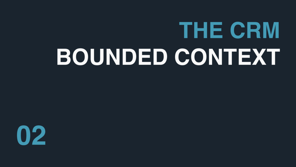 THE CRM BOUNDED CONTEXT 02
